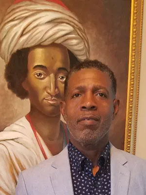 painting of an 18th century African American Muslim